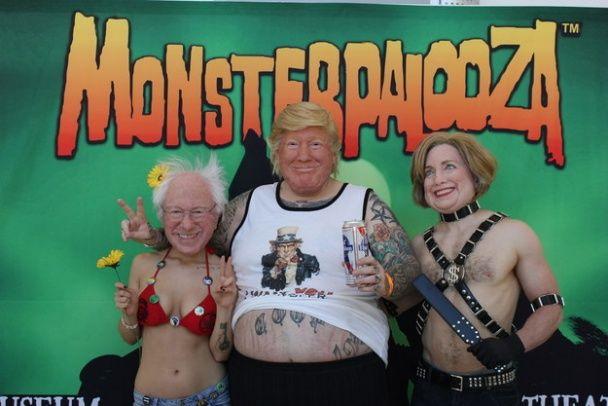 Американський художник створив лякаюче реалістичні маски Трампа і Клінтон