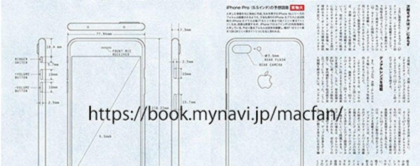 ЗМІ Японії опублікували креслення нового iPhone