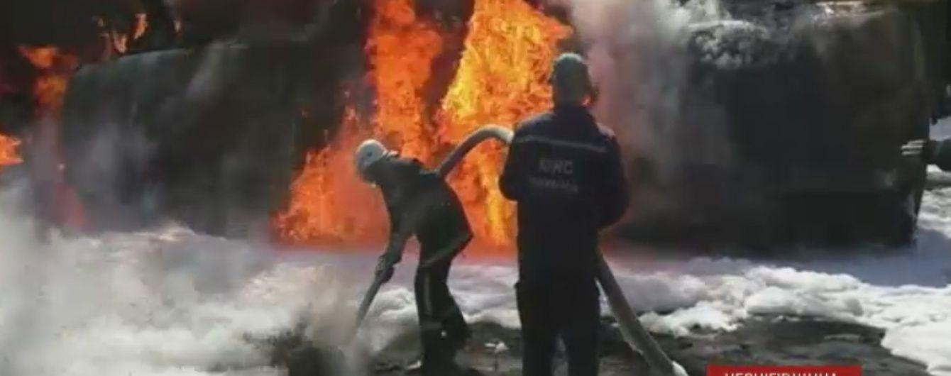 На Чернігівщині після ДТП спалахнуло 13 тонн дизпалива