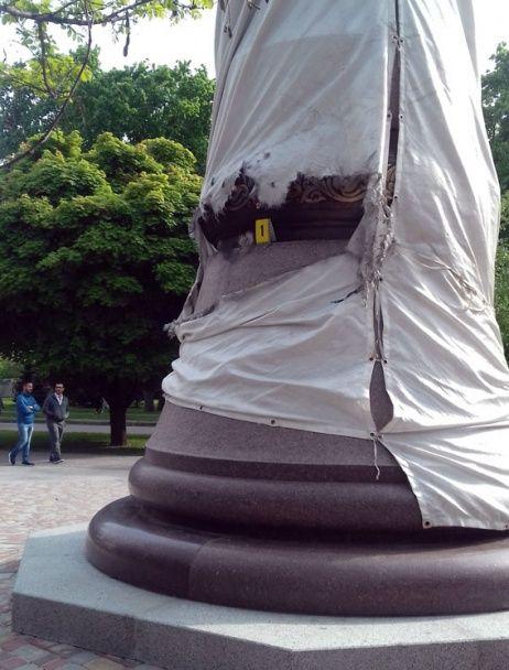 У Полтаві невідомі підірвали новенький пам'ятник Мазепі