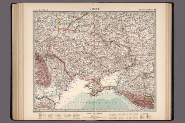 Американський колекціонер виклав у Мережу старовинну мапу України