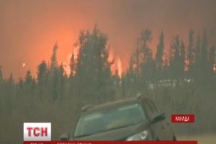Полум'я від пожежі в Канаді сягає кількох десятків метрів заввишки
