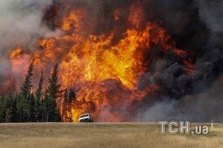 У Канаді спалахнула лісова пожежа площею в половину Чернівецької області