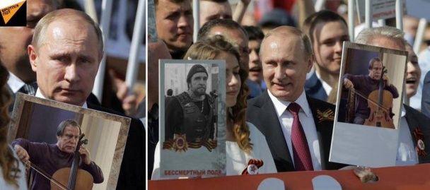 """Поклонська із Чубакою та Путін з """"Хірургом"""": юзери висміяли одіозних політиків у Безсмертному полку"""