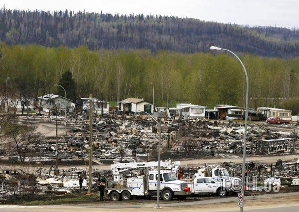 З'явилися фото наслідків потужної пожежі у Канаді, яка знищила 2500 будинків