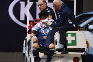 У США футболіст ледь не захлинувся кров'ю після зіткнення з воротарем