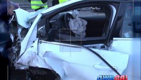 Масштабная авария произошла на мосту Патона