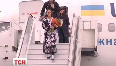 Как Джамалу встретили в украинском аэропорту