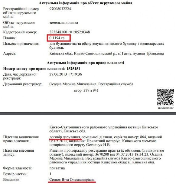 Журналисты разыскали под Киевом имение жены военного прокурора