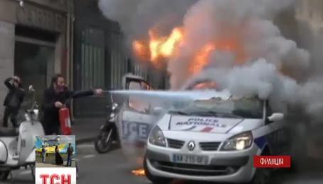 В Париже митинг полицейских закончился стычкой