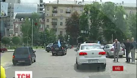 В Киеве состоялся автопробег в память погибших крымских татар