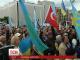Незважаючи на дощ, кияни зібралися на Майдані столиці, аби вшанувати пам'ять татарського народу