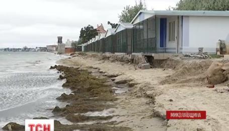 """Курортная зона Николаевщины """"Коблево"""" может затонуть в море"""