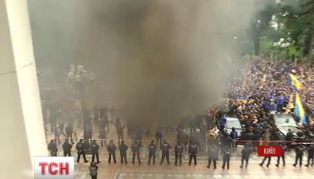 "Активисты ""Азова"" и участники АТО приехали в парламент озвучить ""требования нации"""