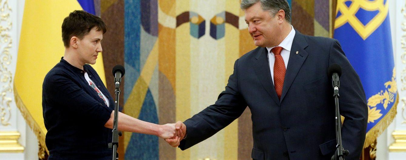 Савченко в гневе и растерянный Порошенко