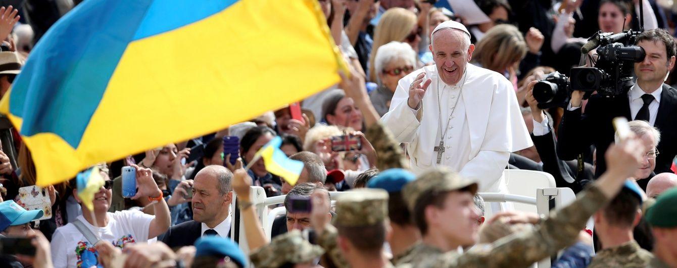 Папа Франциск зібрав 8 мільйонів євро для постраждалих на Донбасі