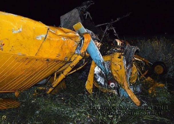З'явилися фото наслідків авіакатастрофи на Волині