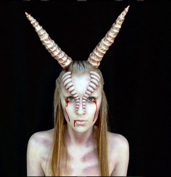 Апокаліптичний грим: молода австралійка перетворює себе на монстрів за допомогою мейкапу