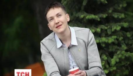 Надія Савченко вже на робочому місці