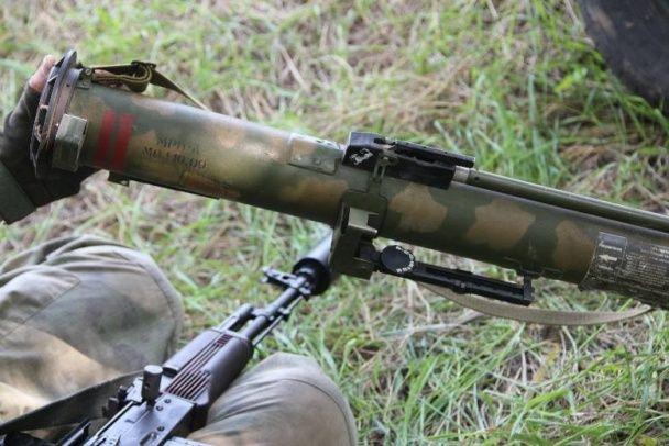 У штабі АТО показали сучасний російський вогнемет, який військові захопили у бойовиків