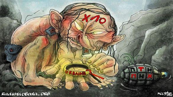 Путін, політична карикатура, для блогів