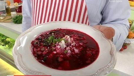 Рецепт холодного супа из свеклы от Руслана Сеничкина