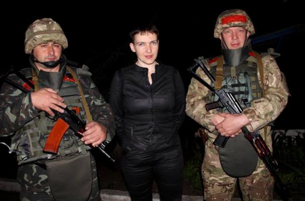 Савченко несподівано поїхала у зону АТО і зустрілася із бійцями