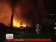 У столичній промзоні в районі Рибальського острова сталася пожежа