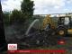 У Києві загорілося несанкціоноване сміттєзвалище