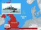 Британський есмінець перехопив російський підводний човен у Північному морі