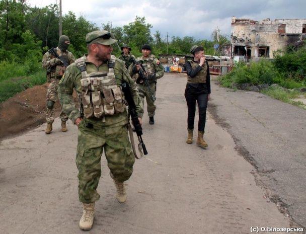 Ярош і Савченко зустрілися в зоні АТО