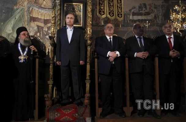 Путіну дозволили посидіти в кріслі візантійських імператорів