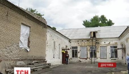 В Красногоровке боевики из пушек расстреляли единственную украинскую школу