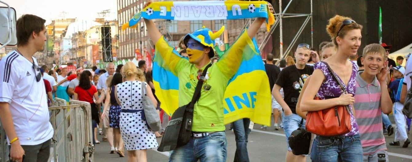 Дощ розігнав уболівальників із комфортних фан-зон Києва на відкритті Євро-2016