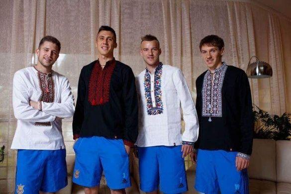 Збірна України у вишиванках