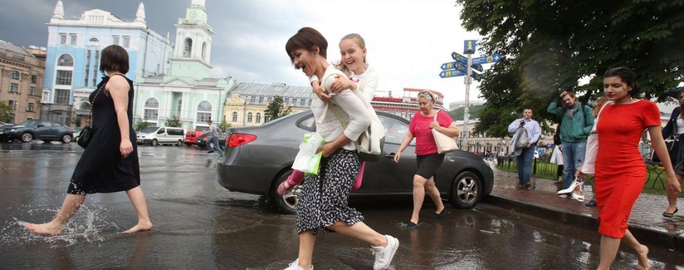 Найближчими днями Україна залишатиметься у полоні дощів та гроз