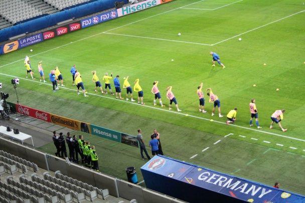 Вправи у Ліллі. Як Україна та Німеччина розім'ялися перед боєм на Євро-2016