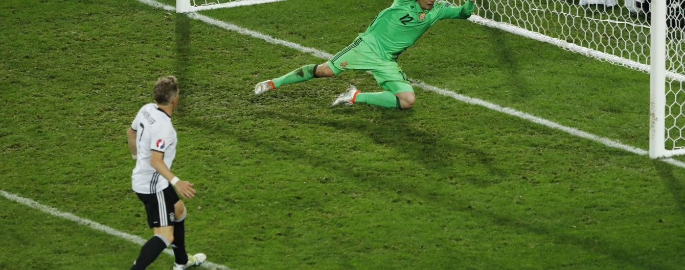Німеччина - Україна - 2:0. Дивись відео голу Швайнштайгера