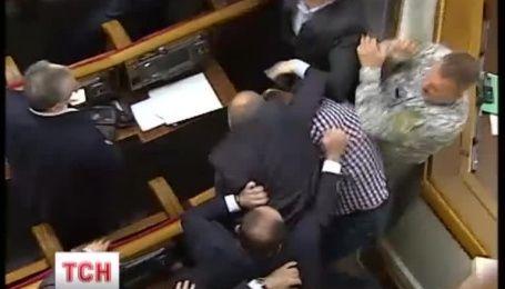 Через Грибовицкую свалку в Верховной Раде произошла драка между народными депутатами