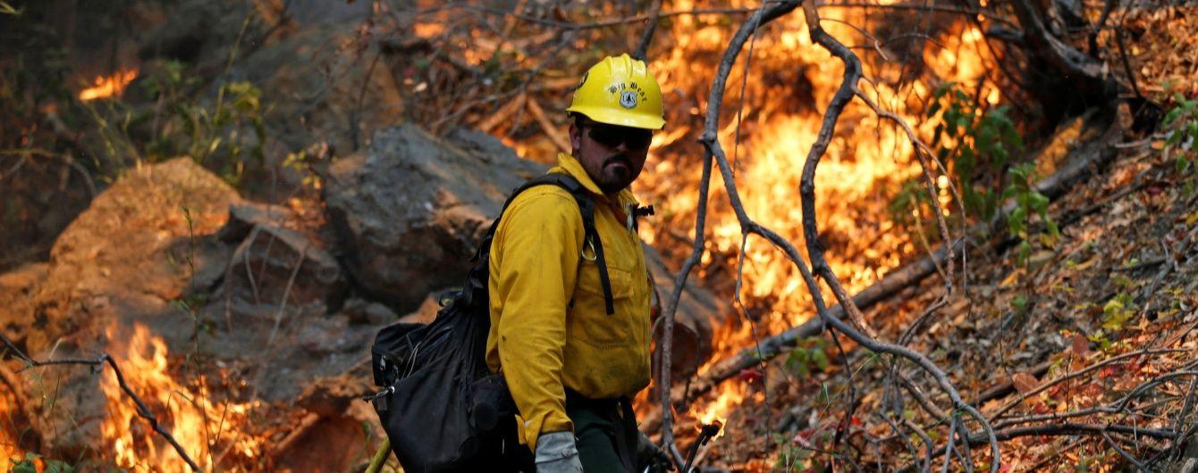 У Каліфорнії в США вирує масштабна лісова пожежа – евакуйовують сотні людей