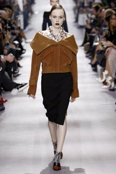 Шик, блэк и спущенная пройма в коллекции Christian Dior сезона осень-зима 2016-2017