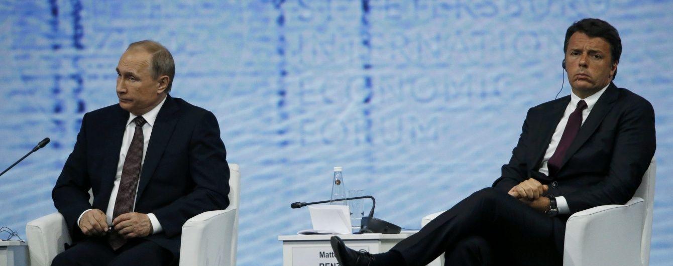 Італійський прем'єр гідно відповів Путіну: Введення санкцій виходить від Європи, а не США