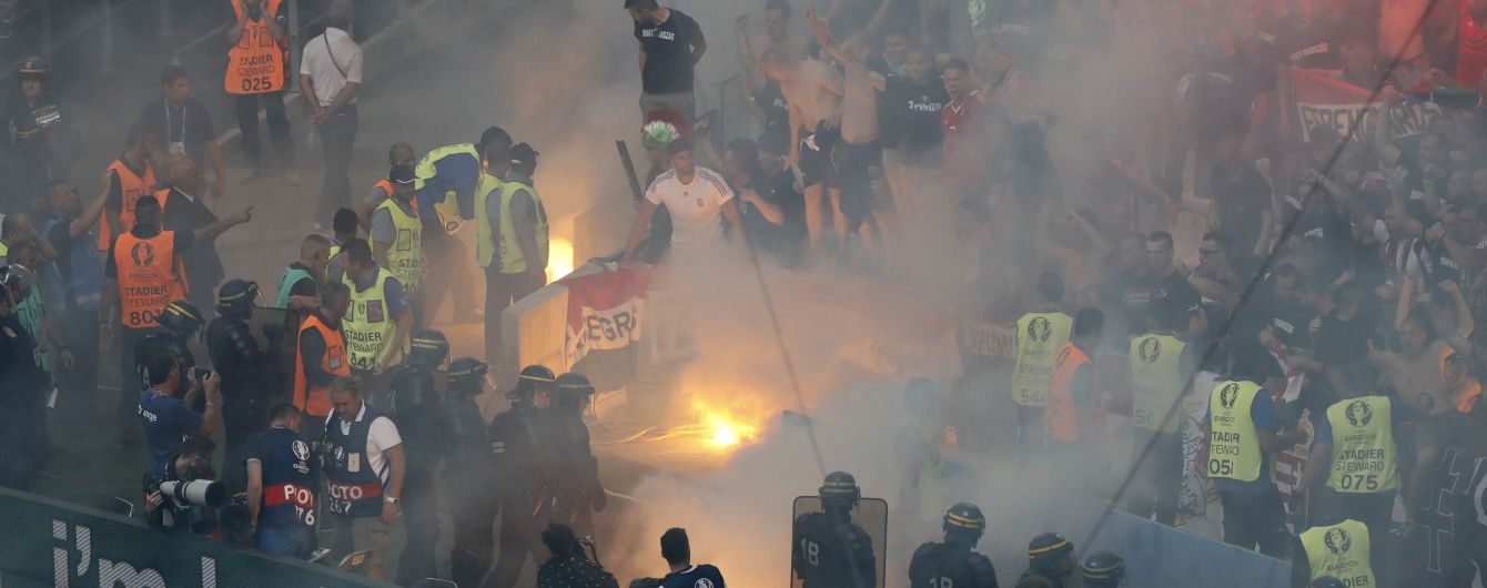 УЄФА покарав Угорщину за бійку фанатів зі стюардами й піротехніку на матчі Євро-2016