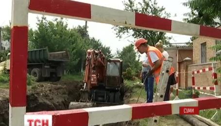 В Сумах без воды остались около 50 тысяч человек