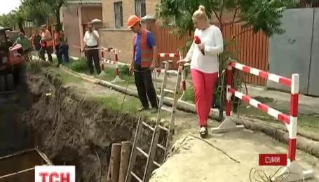 В Сумах без воды осталось 50 тысяч жителей