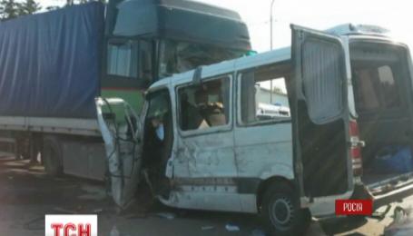 В России под Курском столкнулись грузовик и микроавтобус с украинскими номерами
