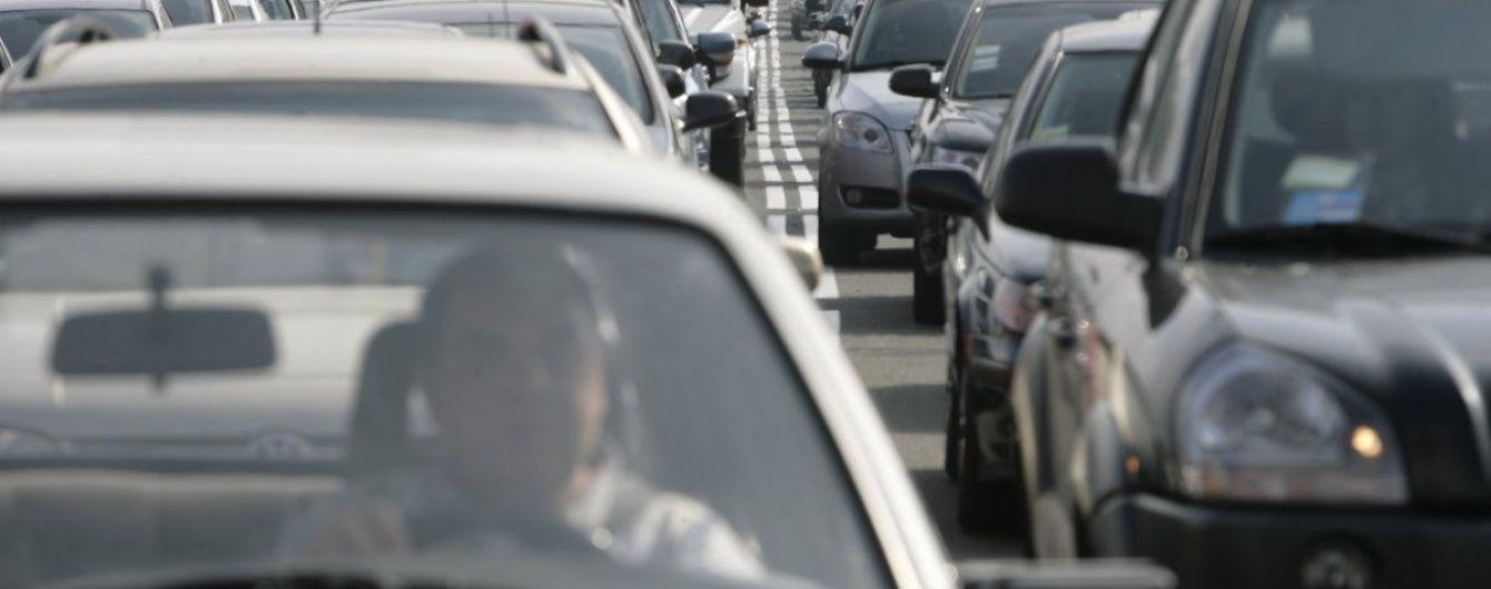 Українські автомобілісти заблокували кордон зі Словаччиною