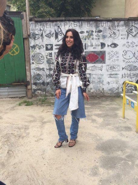 Джамала у розкішній вишиванці та джинсах стала окрасою львівського Alfa Jazz Fest
