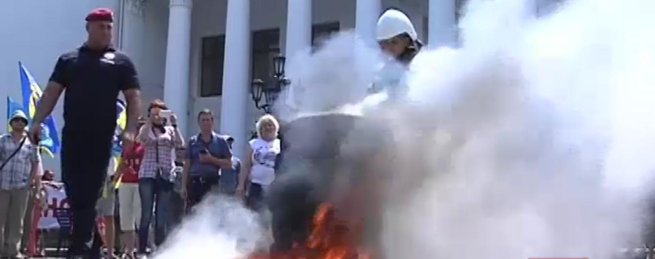 Активісти під мерією відстояли історичний центр Одеси від забудови