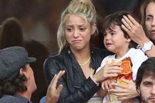 Шакіра із засмученим сином розчулили прихильників реакцією на програш збірної Іспанії